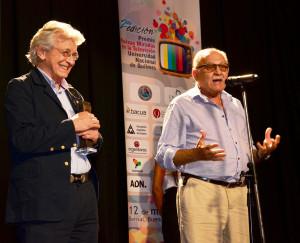 Arturo Bonin y Ricardo Halac fueron homenajeados por Yo Fui Testigo en la segunda edición de los Premios Nuevas Miradas en la Televisión