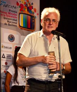 Carlos Ulanovsky, uno de los homenajeados en la segunda edición de los Premios Nuevas Miradas en la televisión