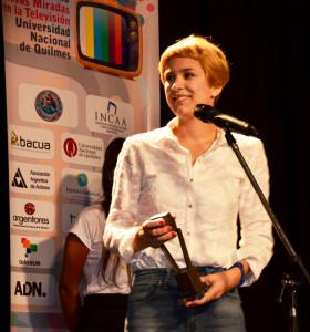 Vanesa González -la actriz que actualmente brilla en Sres. Papis- recibió el galardón a mejor actriz por su participación en Ruta Misteriosa